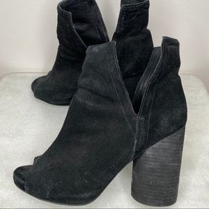 JEFFREY CAMPBELL Oath booties black suede size 9